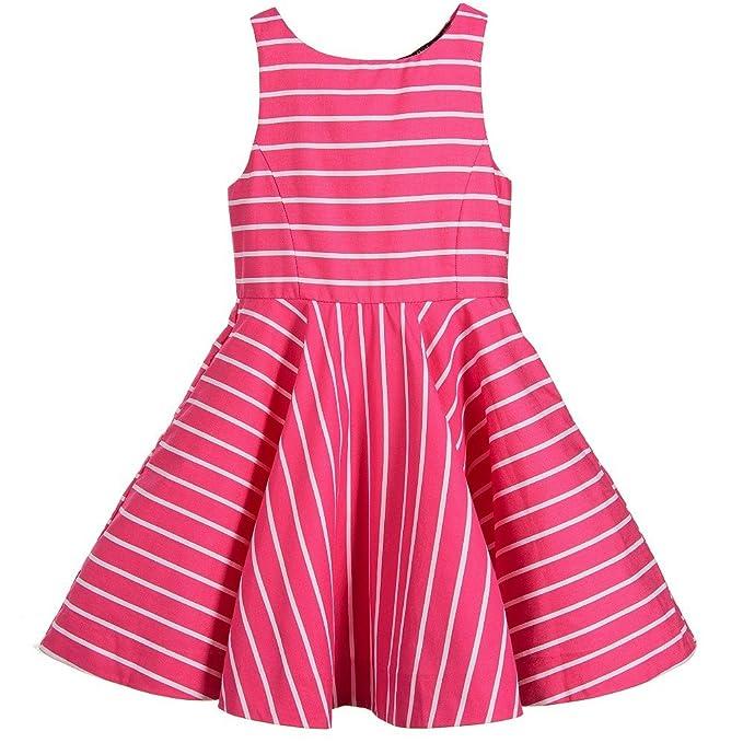1020eb812f40 Amazon.com  Ralph Lauren Polo Girls Striped Sleeveless Party Dress ...