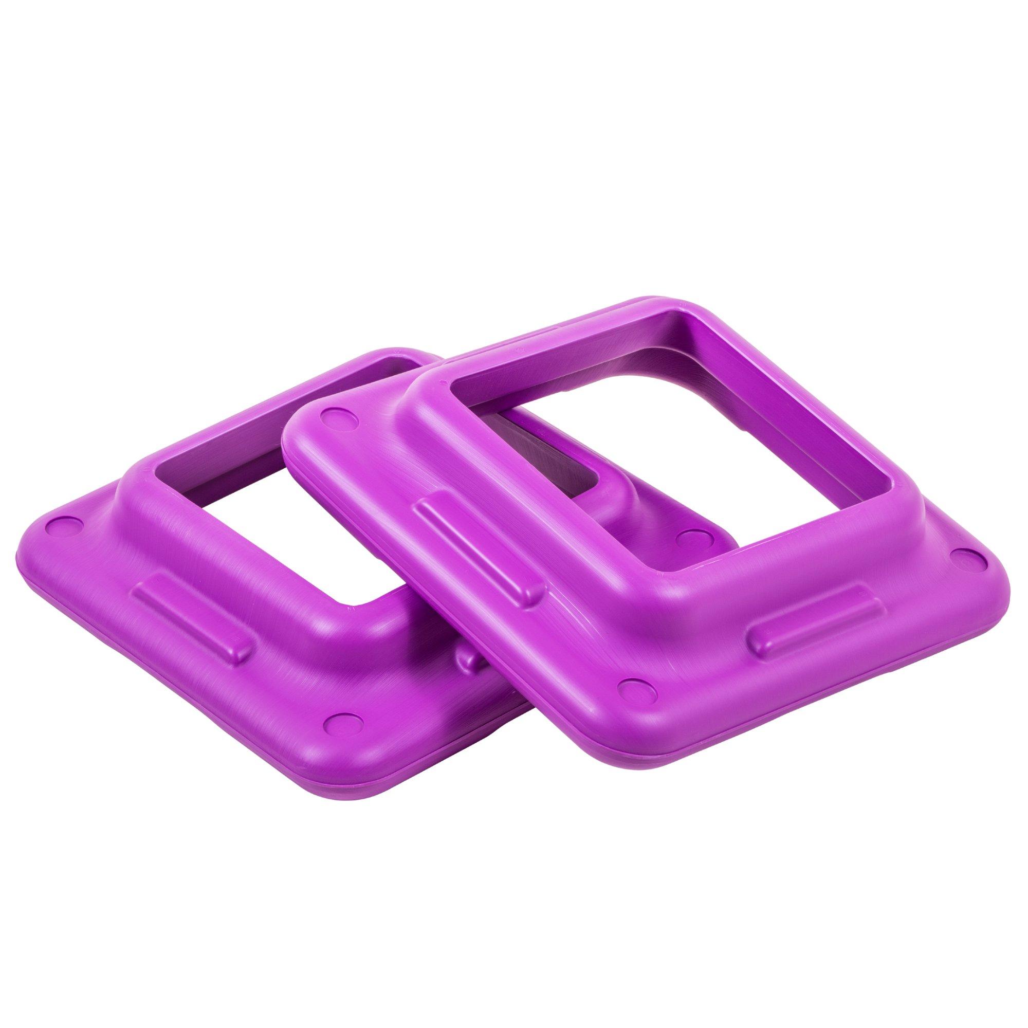 The Step Original Health Club Aerobic Step Riser, Violet, Pair (91123)