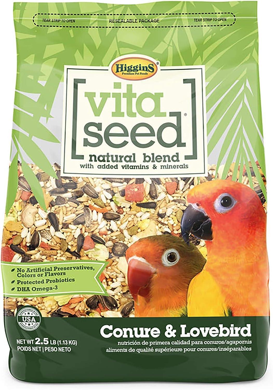 Vita Seed Conure And Lovebird Food Bag 2.5 Lb.