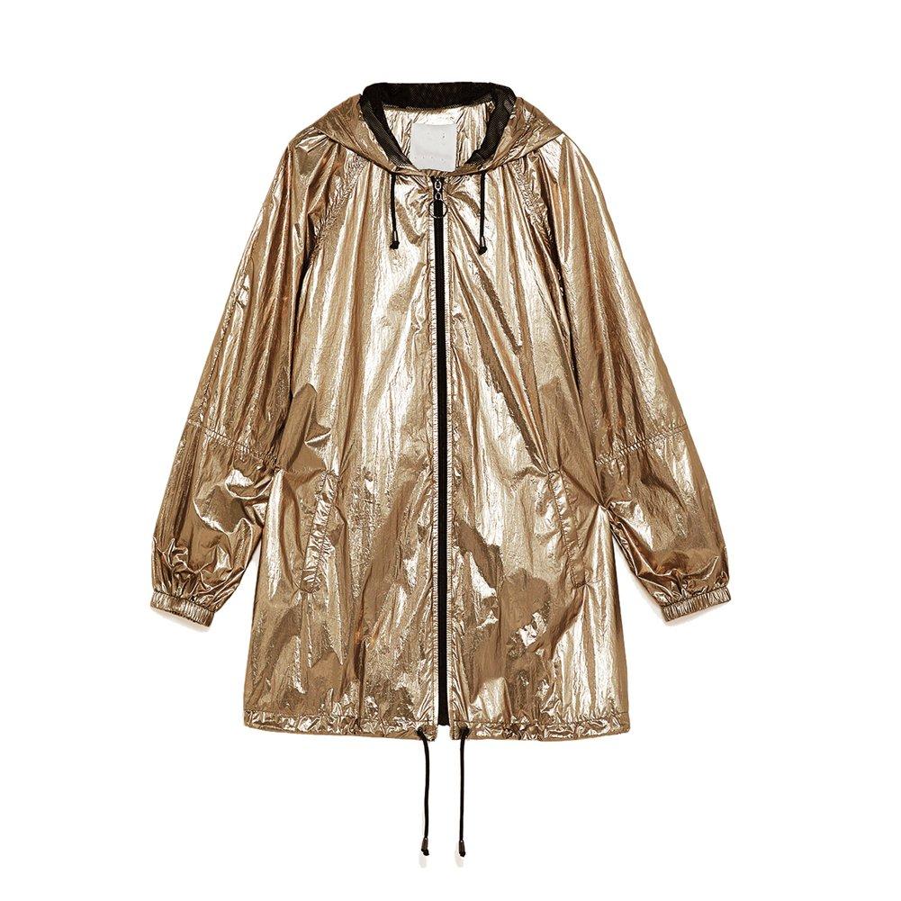 Daxvens Women Waterproof Raincoat with Hood - Military Light Rain Jacket Anorak Windbreaker