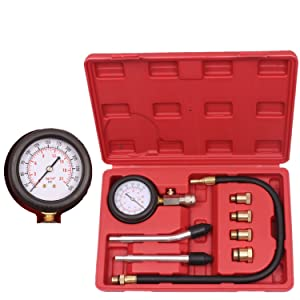 BETOOLL HW0130 8pcs Petrol Engine Cylinder Compression Tester Kit Automotive Tool Gauge