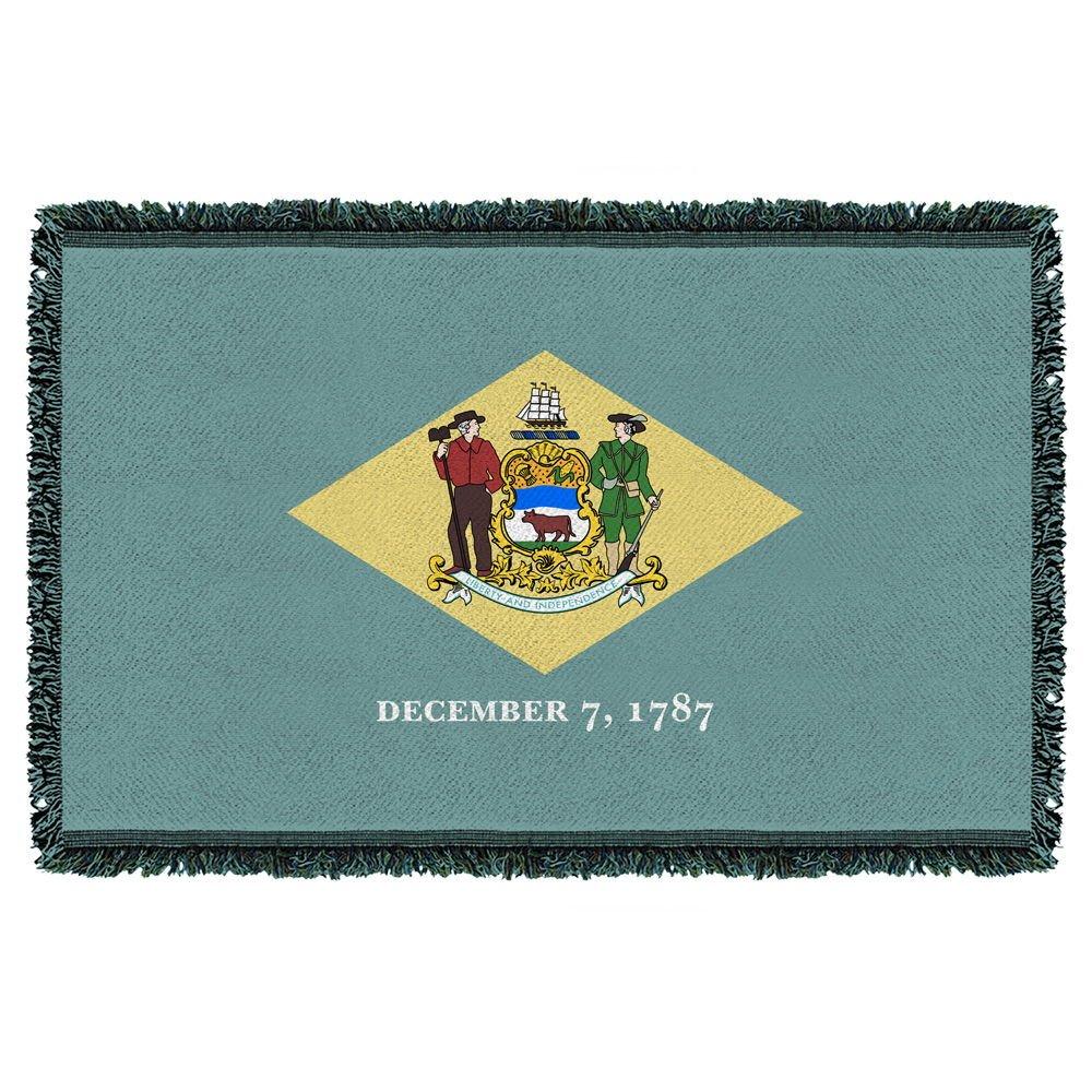 Delaware State Flag Woven Blanket Tapestry 36x58