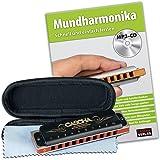 cascha HH 1610Kit Professional Harmonica Bleu