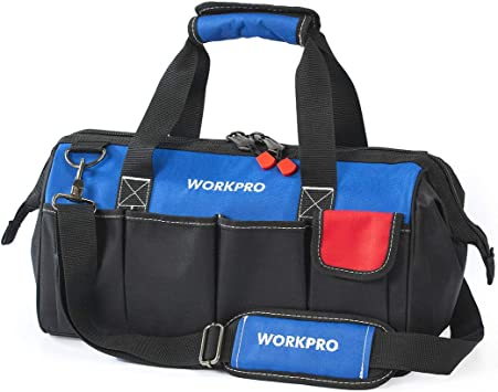 Professional Storage Strap /& Tools Bag 18 Inch Interior Capacity Wide Mouth