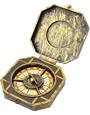 PIRATE GOLDEN COMPASS TOY PROP FANCY DRESS COSTUME ACCESSORY