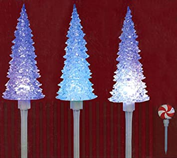 Amazon set of 3 led lighted color changing musical christmas set of 3 led lighted color changing musical christmas tree pathway marker lawn stakes aloadofball Choice Image