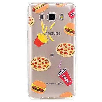 Funda Carcasa Transparente para Samsung Galaxy J5(2016)J510 Caso TPU gel de silicona goma suave Cubierta parachoques Funda protectora de Silicona caso ...