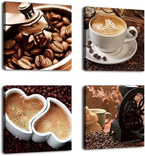 COFFEE SCENERY  LOVELY Framed Canvas home wall Picture Art choose your size