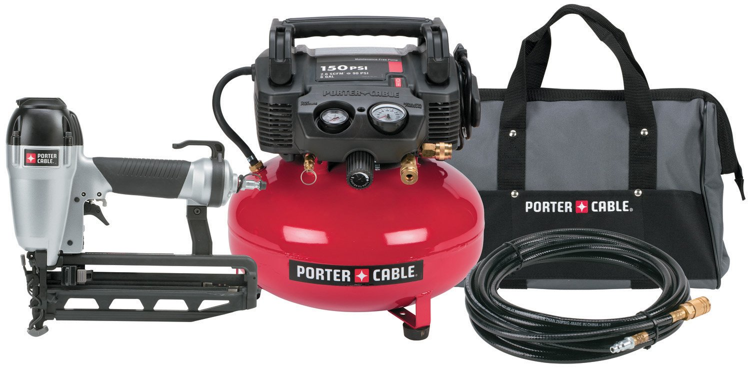 Amazon.com: PORTER-CABLE Pc1Pak 2-1/2-Inch Finish Nailer Compressor ...