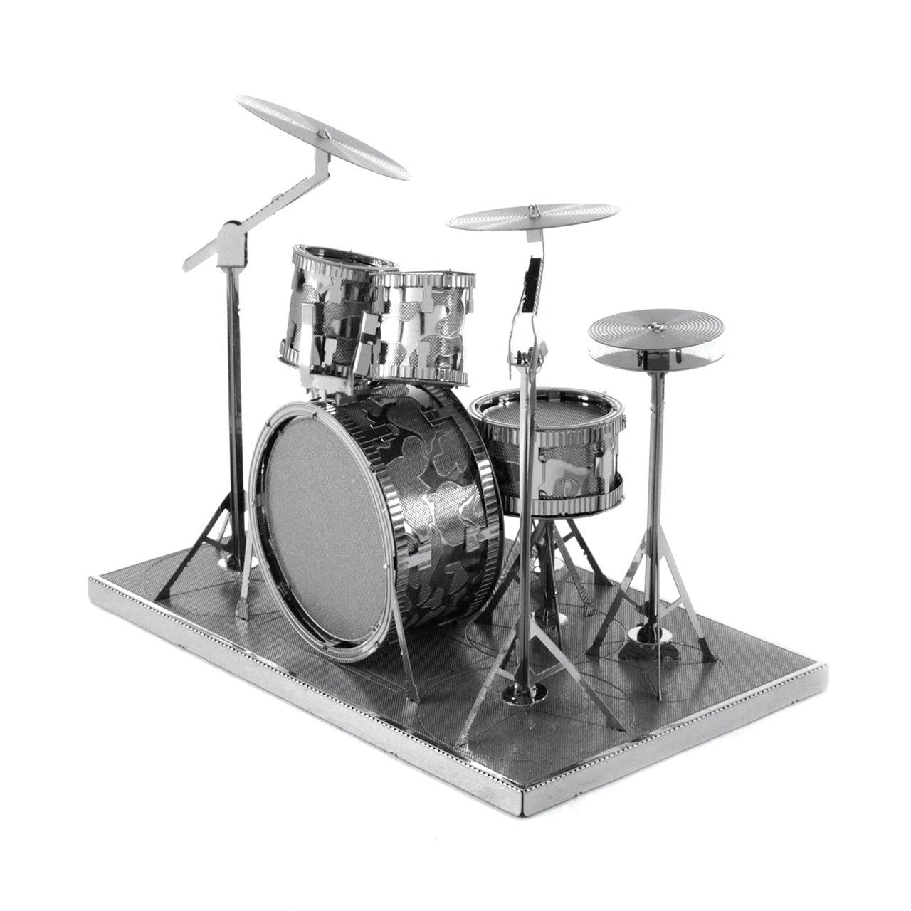 Fascinations Metal Earth Drum Set 3D Metal Model Kit 5284
