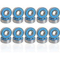 Förpackning med 20 spårkullager 608-2rs ABEC 7 kullager 8 mm x 22 mm x 7 mm rullager miniatyr radiella kullager