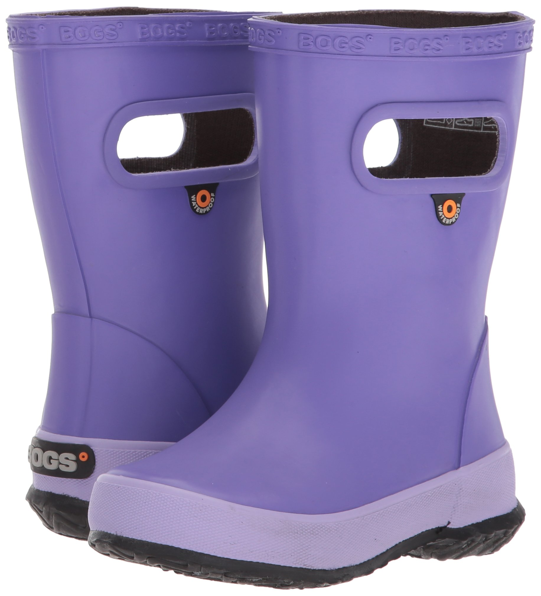 Bogs Kids' Skipper Waterproof Rubber Rain Boot for Boys and Girls,Solid Violet,11 M US Little Kid by Bogs (Image #6)