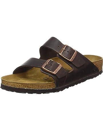 0dc60def Birkenstock Arizona Cuero Engrasado Ancho, Zapatos con Hebilla para Hombre