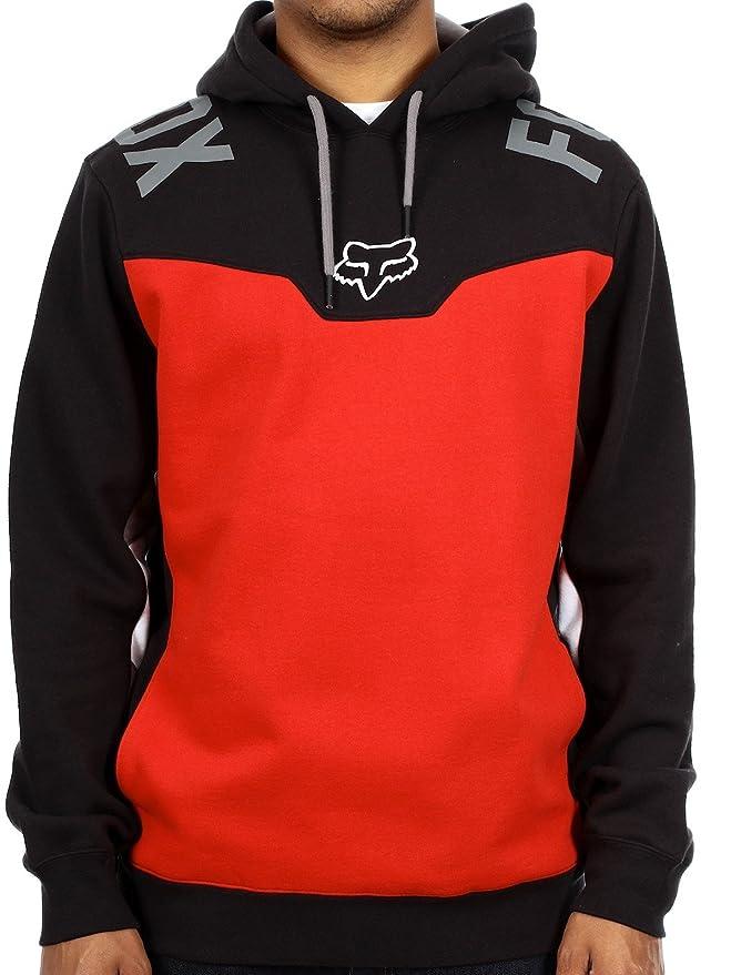 Sudadera Fox Racing: Rotor Pullover Fleece BK/RD XL: Amazon.es: Coche y moto