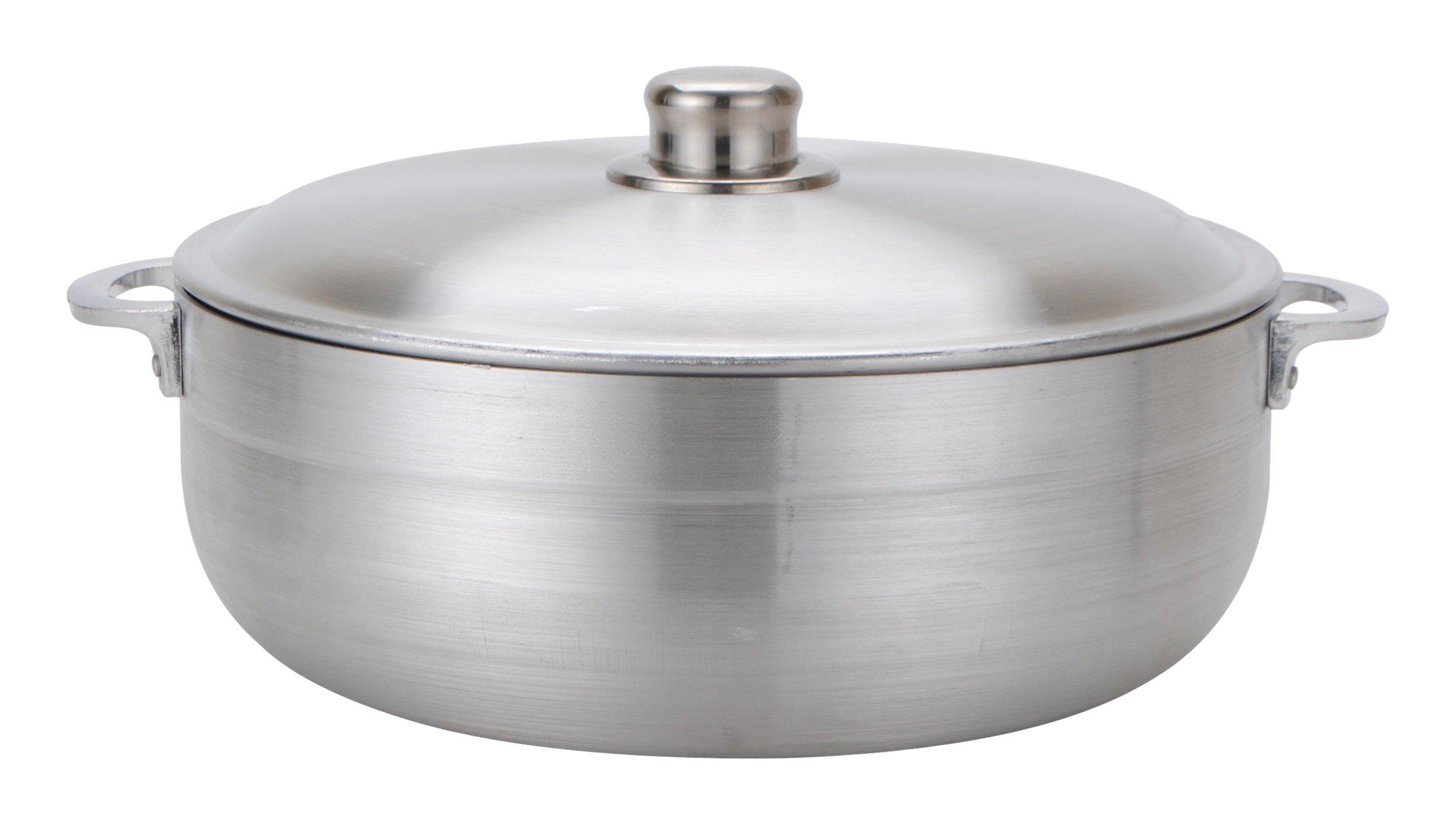 Aramco Alpine Gourmet Aluminum Caldero, 7 quart, Silver by Aramco (Image #1)