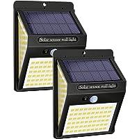 Litogo Luz Solar Exterior 140 LED【2 Pack / 3 Modos】con Sensor de Movimiento, Luces LED Solares Exteriores 270º…