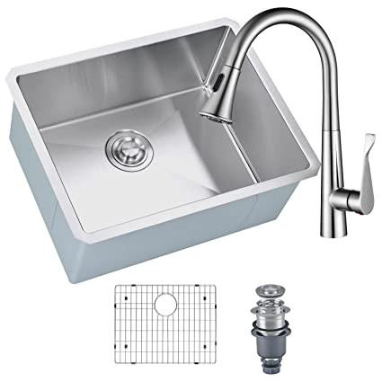 Mowa Hcm2318f Kitchen Sink And Faucet Combo 28 Inch Handmade