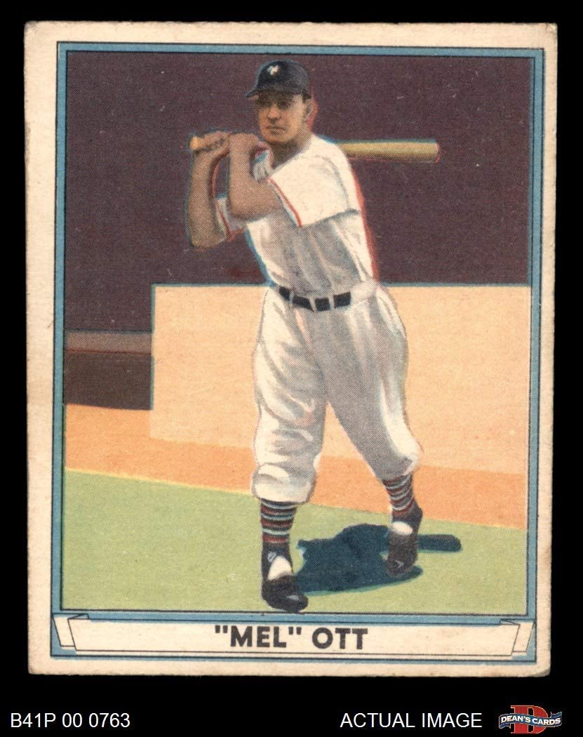 1941 Play Ball # 8 Mel Ott New York Giants (Baseball Card) Dean's Cards 3 - VG Giants 71pIlo3povLSL1050_