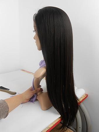 Arison Hair 7A Full Lace Human Hair Wigs For Black Women Silky Straight  Brazilian Human Hair e8b584afb