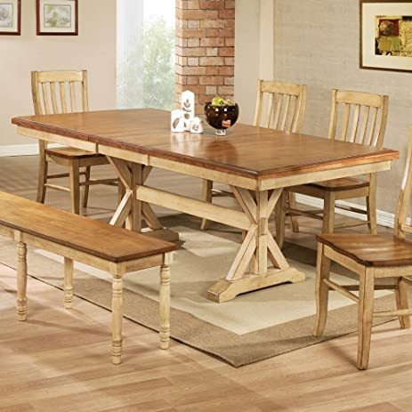 Amazoncom Winners Only Quails Run 84 in Trestle Dining Table