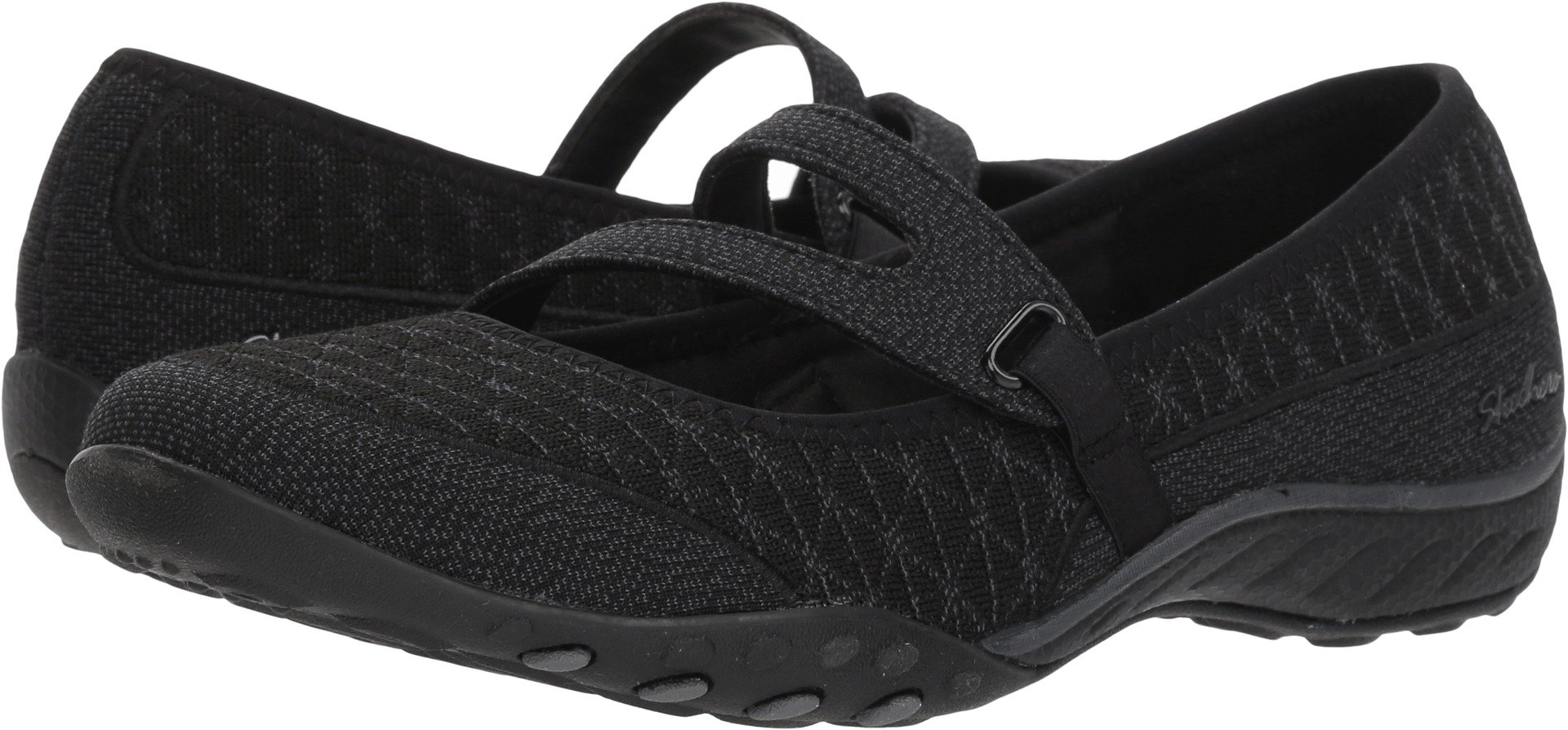Skechers Relaxed Fit Breathe Easy Boss Lady Womens Mary Jane Sneakers Black 8.5