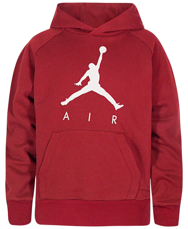 Jordan Boys Fleece Pullover Hoodie (M, Gym Red)