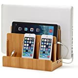 Eco Bamboo Multi-Device Charging Station Dock & Organizer - Multiple Finishes Available. for Laptops, Tablets, and…