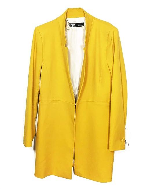 edf9d9dc Zara Women's Inverted Lapel Frock Coat 2143/293: Amazon.co.uk: Clothing