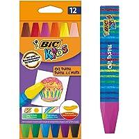 BIC Kids Waskrijtjes - Verschillende Kleuren, Pak van 12 Stuks