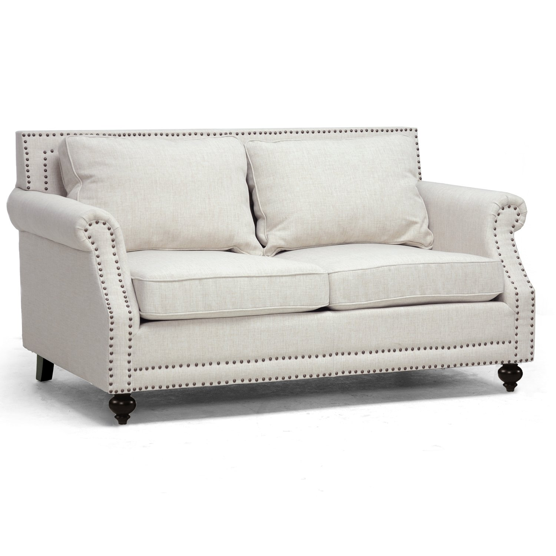 Amazon Baxton Studio Mckenna Linen Modern Sofa Beige