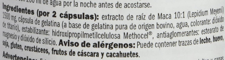 Amix Peruvian Maca, Estimulantes y Precursores, 120 Cápsulas: Amazon.es: Salud y cuidado personal