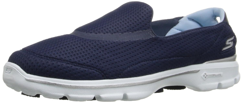 Skechers Damen Go Walk 3 Unfold Sneakers, Grau  39 EU Blau (Nvw)