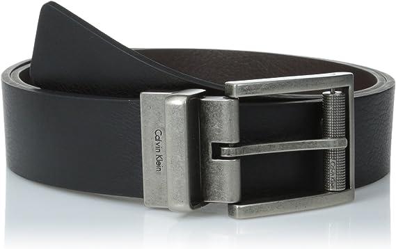 Calvin Klein Reversible Hombre Arnés Hebilla Cinturón: Amazon.es ...