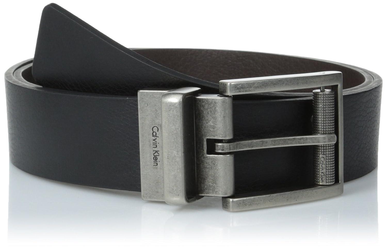 Calvin Klein Men's Reversible Harness Roller Buckle Belt 73271