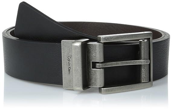 7b3e8a933cc5 Calvin Klein Men s Reversible Harness Roller Buckle Belt, Black Brown, ...