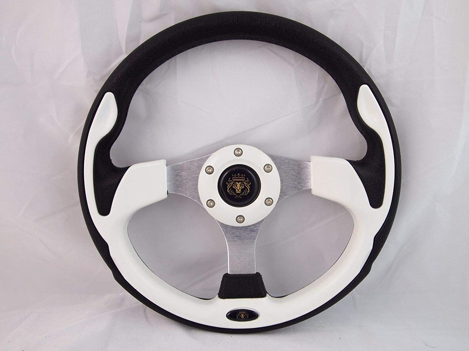 Steering Wheel with Adapter White for RZR 570 800 900 1000 New World Motoring