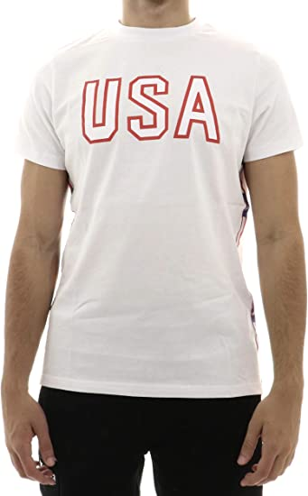 Mens T-Shirt KAPPA Estessi Authentic T-ShirtWhite