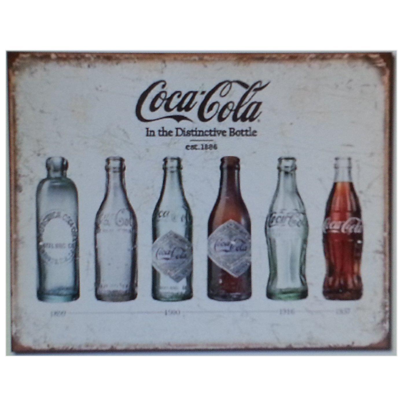 org. nostalgisches Cartel de chapa 20 x 30 cm Coca Cola ...