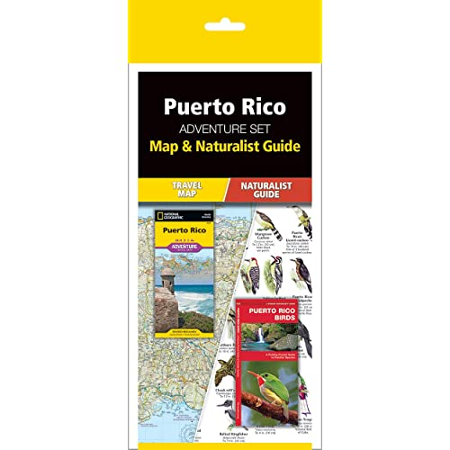 Trail Map /& Wildlife Guide Puerto Rico Adventure Set
