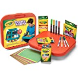 Crayola 绘儿乐 create &carry 75件 儿童艺术套装 适合于5岁及以上儿童,二合一便携式书桌&携带盒 On-The-Go 儿童艺术家,包括标记笔,蜡笔,彩色铅笔和纸,样式可能会变化