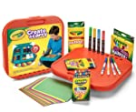 Crayola Create 'N Carry 75Piece Art Kit Art Gift for Kids 5 & Up, 2-in-1 Portable Lap Desk & Carry-Case for Child Artists...