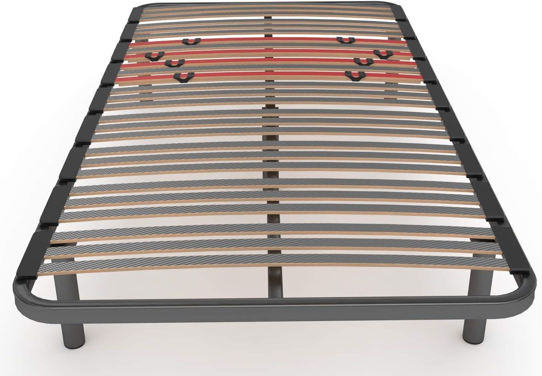 LA WEB DEL COLCHON Somier Multiláminas Regulador (*) 110 x 190 x 5 cms. (5 Patas Incluidas)