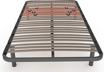 LA WEB DEL COLCHON Somier Multiláminas Regulador (*) 100 x 190 x 5 cms. (5 Patas Incluidas)