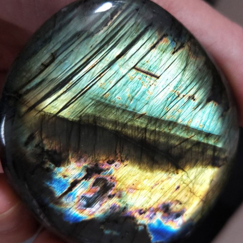 pinzhi verre Naturel Moonstone Quartz Poli labradorite Min/éral Objet Pierre o/ïdium 0,03/kg