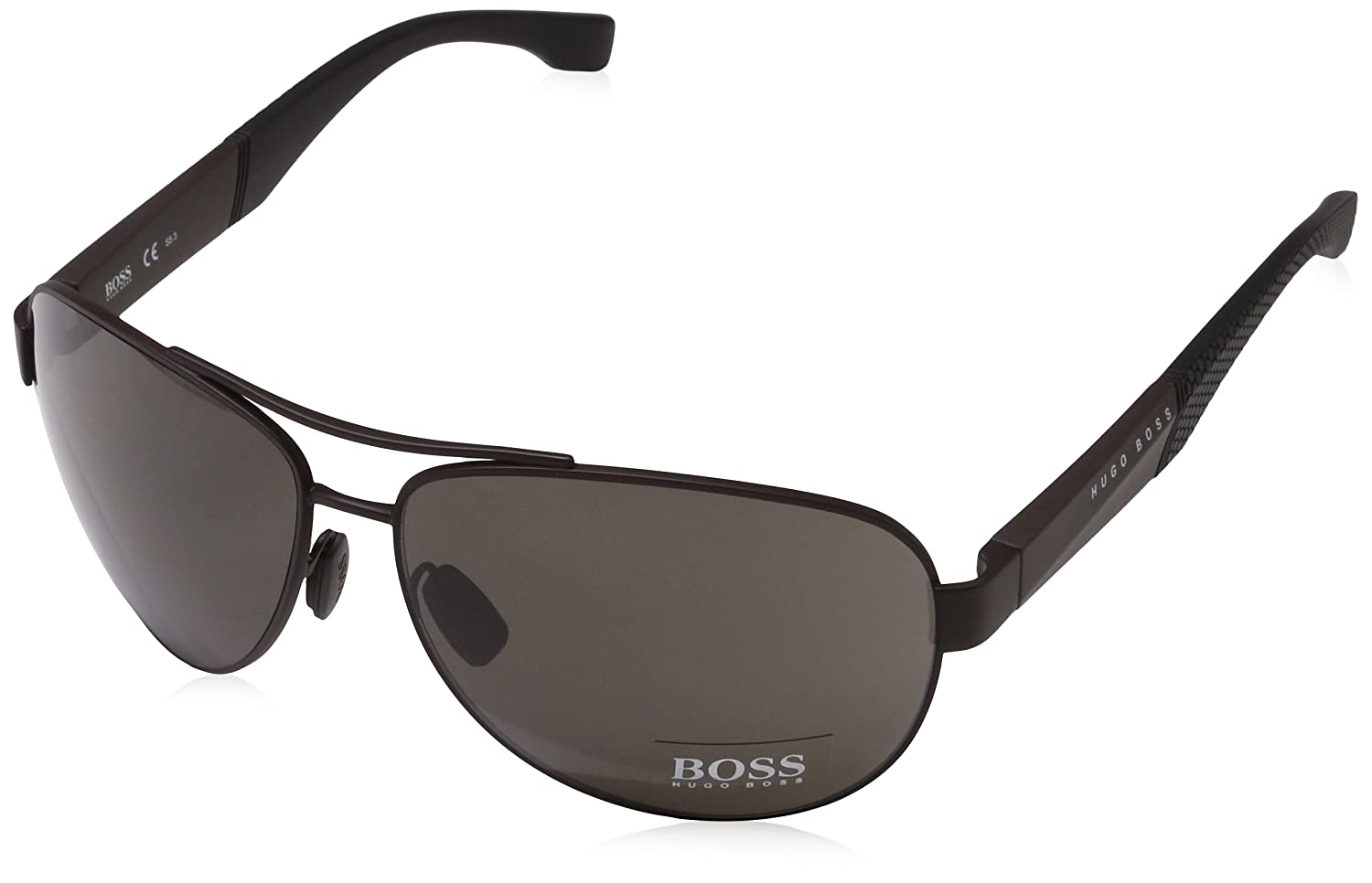 BOSS by Hugo Boss Mens Boss 0915//s Aviator Sunglasses 65 mm MATT Brown