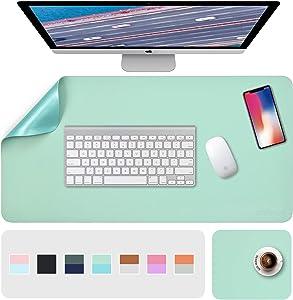 Desk Pads, Desk Mat, Desk Blotter Pad, Large Desk Pad Dual-Sided Green/Blue, 31.5
