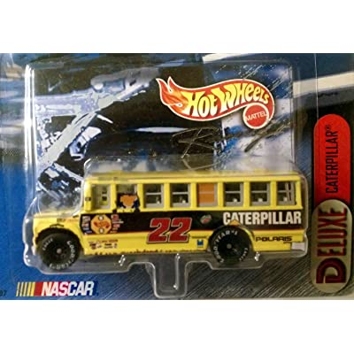 Deluxe Caterpillar School Bus Series from Hot Wheels Racing 1:64 Scale Die Cast 2 In a Series of 4: Toys & Games