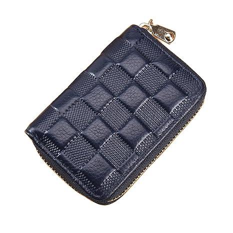 Amazon.com: LXJ Store Mujer Hombre bloqueo RFID tarjetas de ...