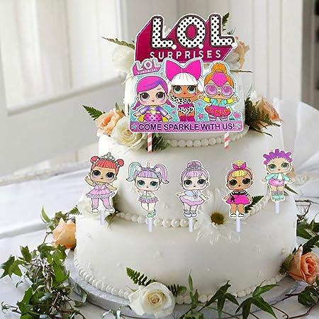 LIK 24 Piezas Decoracion de la Tarta LOL Surprise Cumpleaños ...