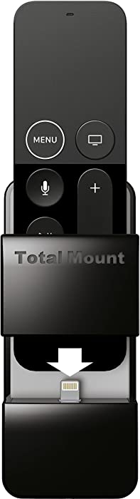TotalMount Apple TV Remote Holder (Safeguards and Charges Apple TV Remote Controls)